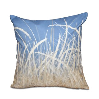 16 x 16-inch Sea Grass 1 Floral Print Outdoor Pillow