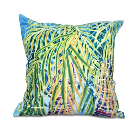 16 x 16-inch Malibu Floral Print Outdoor Pillow