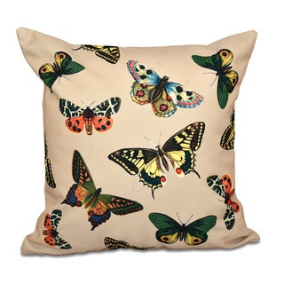 16 x 16-inch Butterflies Animal Print Outdoor Pillow