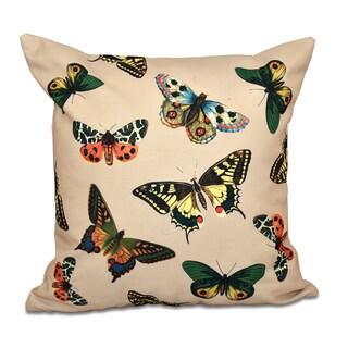 16 x 16-inch Butterflies Animal Print Outdoor Pillow