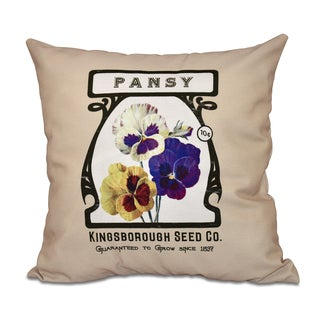 16 x 16-inch Pansy Floral Print Outdoor Pillow