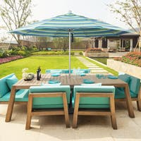 California Umbrella 11' Rd Aluminum Frame, Fiberglass Rib Market Umbrella, Push Open, White Finish, Pacifica Fabric