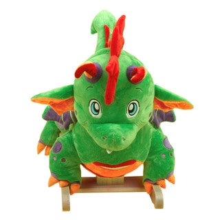 Rockabye Poof the Lil' Dragon Green Rocker