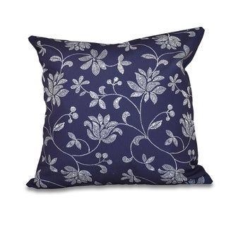 16 x 16-inch Traditional Floral Floral Print Outdoor Pillow