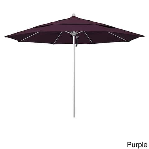 California Umbrella Anodized Silver Finish Aluminum 11-foot Round Outdoor Umbrella