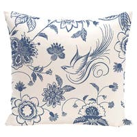16 x 16-inch Traditional Bird Floral Floral Print Outdoor Pillow