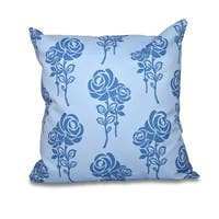 16 x 16-inch Carmen Floral Print Outdoor Pillow