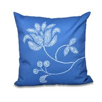 16 x 16-inch Traditional Flower-Single Bloom Floral Print Outdoor Pillow