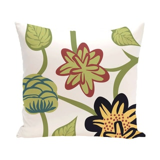 16 x 16-inch Tropical Floral Floral Print Outdoor Pillow