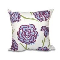 16 x 16-inch Spring Floral 1 Floral Print Outdoor Pillow