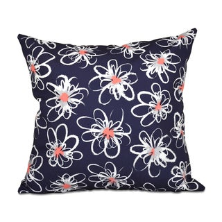 16 x 16-inch Penelope Floral Geometric Print Outdoor Pillow