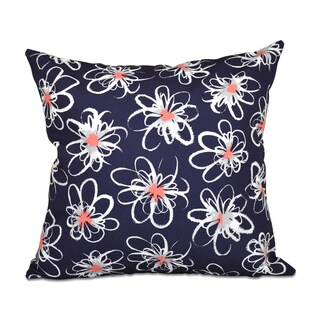 16 x 16-inch Penelope Floral Geometric Print Outdoor Pillow (5 options available)