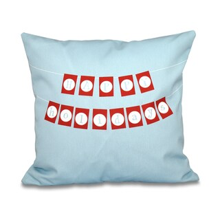 16 x 16-inch Happy Holidays Banner Word Print Outdoor Pillow