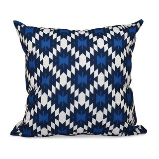 16 x 16-inch Jodhpur Kilim Geometric Print Outdoor Pillow