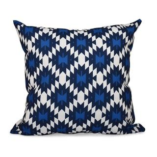 16 x 16-inch Jodhpur Kilim Geometric Print Outdoor Pillow