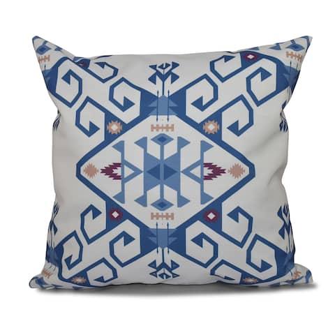 16 x 16-inch Jodhpur Medallion 2 Geometric Print Outdoor Pillow