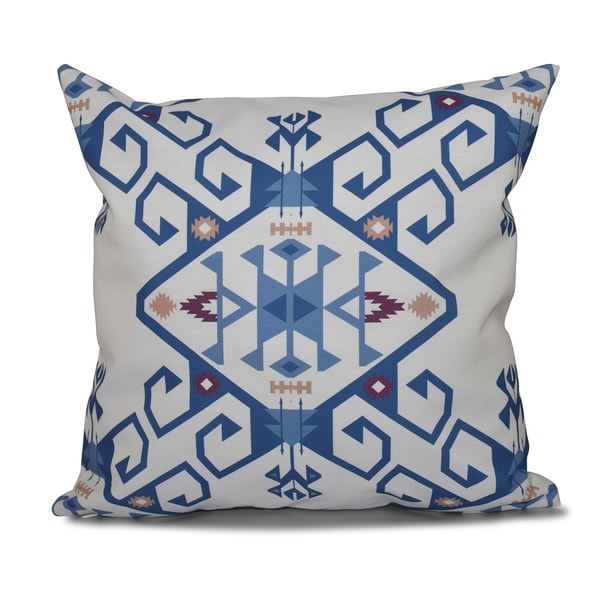 Shop 16 X 16 Inch Jodhpur Medallion 2 Geometric Print Outdoor Pillow