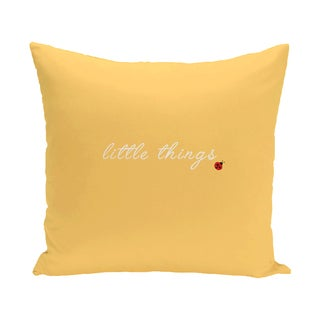 16 x 16-inch Little Things Word Print Outdoor Pillow