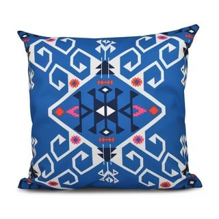 16 x 16-inch Jodhpur Medallion Geometric Print Outdoor Pillow