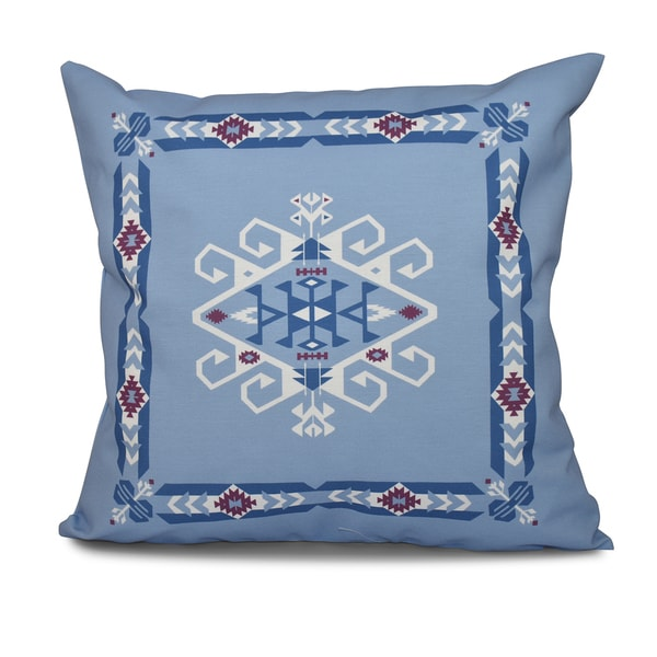 16 x 16-inch Jodhpur Border 3 Geometric Print Outdoor Pillow