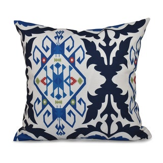 16 x 16-inch Bombay Medallion Geometric Print Outdoor Pillow