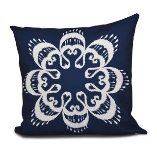 16 x 16-inch Ikat Mandala Geometric Print Outdoor Pillow