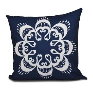 16 x 16-inch Ikat Mandala Geometric Print Outdoor Pillow