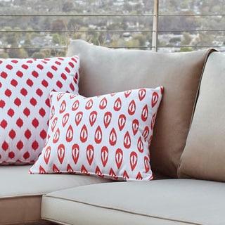 16 x 16-inch Ikat Tears Geometric Print Outdoor Pillow