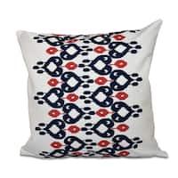 16 x 16-inch Boho Chic Geometric Print Outdoor Pillow