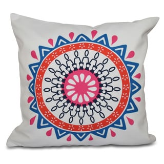 16 x 16-inch Mod Geometric Print Outdoor Pillow