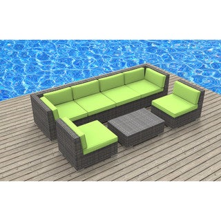 Urban Furnishing Oahu Wicker/Rattan 7-piece Sectional Sofa Outdoor Patio Furniture Set
