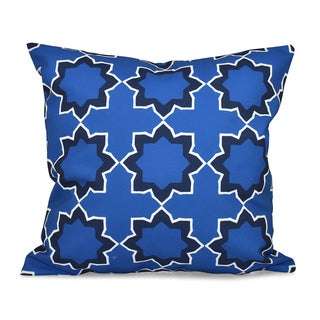 16 x 16-inch Bohemian Geometric Print Outdoor Pillow