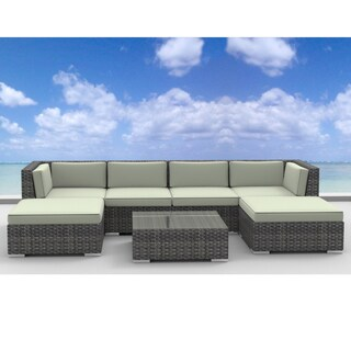 Urban Furnishing Maui Rattan 7-piece Outdoor Sectional Sofa Patio Furniture Set