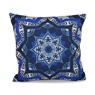 16 x 16-inch Shawl Geometric Print Outdoor Pillow