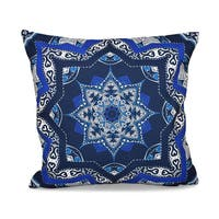 16 x 16-inch Shawl Geometric Print Outdoor Pillow