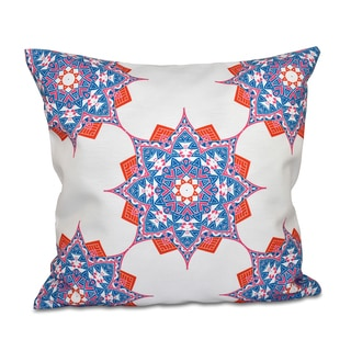 16 x 16-inch Rhapsody Geometric Print Outdoor Pillow