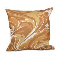 16 x 16-inch Marble Geometric Print Outdoor Pillow
