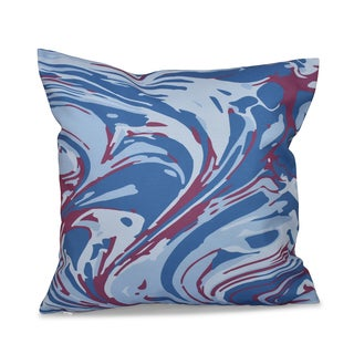 16 x 16-inch Marble Blend Geometric Print Outdoor Pillow