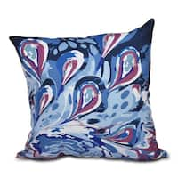 16 x 16-inch Boho Splash Geometric Print Outdoor Pillow