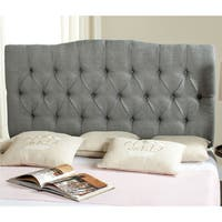 Safavieh Axel Grey Linen Upholstered Tufted Headboard (King)