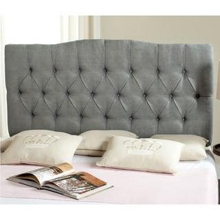 Safavieh Axel Grey Linen Upholstered Tufted Headboard (King)