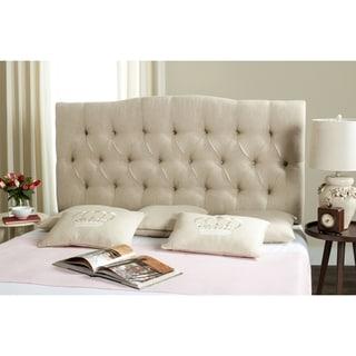 Link to Safavieh Axel Hemp Linen Upholstered Tufted Headboard (King) Similar Items in Bedroom Furniture