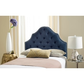 Safavieh Arebelle Steel Blue Upholstered Tufted Headboard - Silver Nailhead (Twin)
