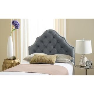Safavieh Arebelle Grey Upholstered Tufted Headboard - Silver Nailhead (Twin)