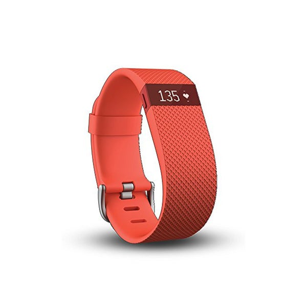 Fitbit Charge HR Wireless Activity Wristband, Tangerine, Small