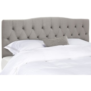 Safavieh Axel Pewter Linen Upholstered Tufted Headboard (Queen)