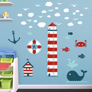 Fathead Nautical Theme Nursery Height Chart