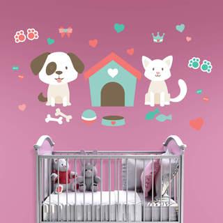 Fathead Puppies & Kittens Theme Nursery Collection