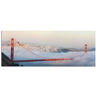 Modern Home 'San Francisco Golden Gate Bridge 3' Ultra High Resolution Tempered Glass Wall Art