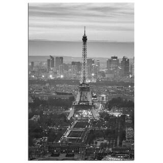 Modern Home 'Paris Eiffel Tower 2' Ultra High Resolution Tempered Glass Wall Art